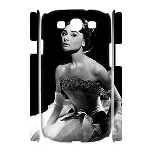 J-LV-F Audrey Hepburn Customized Hard 3D Case For Samsung Galaxy S3 I9300