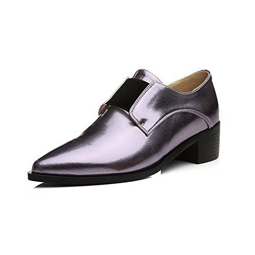 Amoonyfashion Damesschoenen Met Puntige Neus En Hak Geborduurde Pumps-schoenen Paars