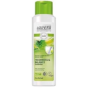 Lavera Cheveux fraîcheur et équilibre Shampooing ∙ Bio Citron ∙ Cheveux Gras ∙ Vegan Bio Soin des Cheveux Cosmétique Naturel 250ml