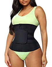 Junlan Women Waist Trainer Cincher Belt Tummy Control Sweat Girdle Workout Slim Belly Band for Weight Loss