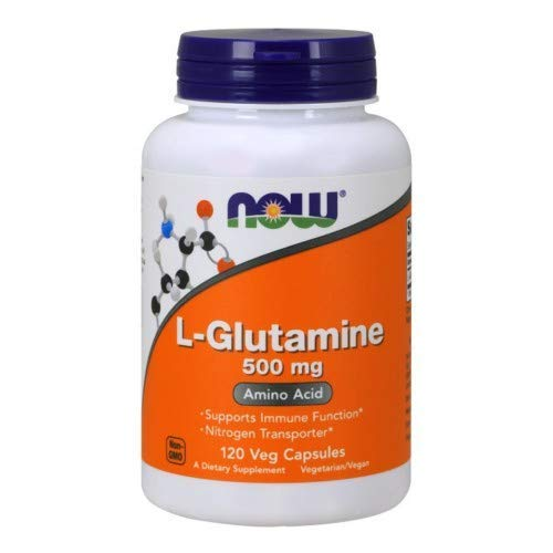 Now Foods L-Glutamine 500 Milligrams, 120 Veggie Capsules (Pack of 4)