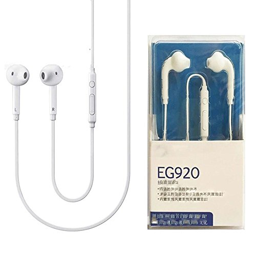 Sports Earphone, Super Bass Stereo in Ear 3.5mm Noise-isolating Earbud Headphones Wired Earphone with Remote Control &Mic for Samsung Galaxy and Other Smartphones Tablets Music Player (White)