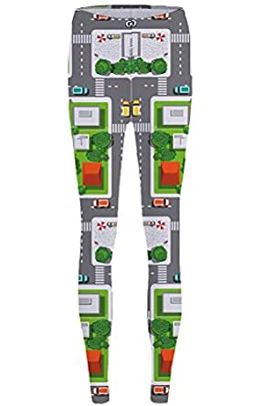 1b28f1dc2f859 Amazon.com: PATOO Women 3D Print Leggins City Pattern Sexy Funny ...
