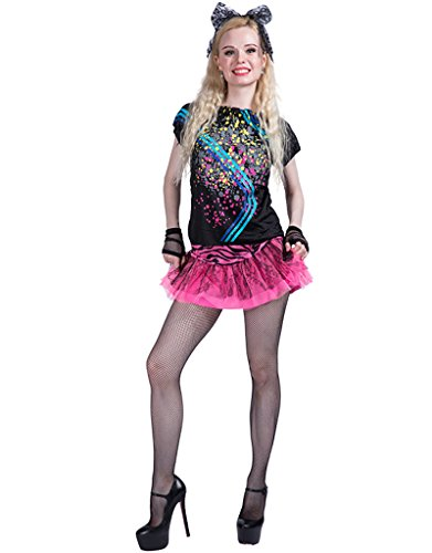 80's Halloween Costume (FantastCostumes Women 80's Pop Star Party Halloween Costume(As Picture, Medium))