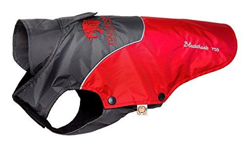 TOUCHDOG 'Subzero-Storm' Waterproof 3M Reflective Pet Dog Coat Jacket with Heavy-Duty Velcro w/ Blackshark Technology, Small, Red, Black (Parka Storm Lined)