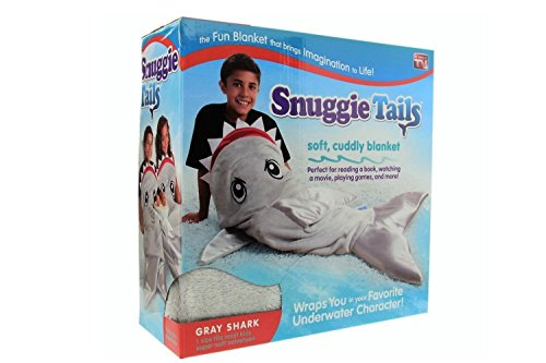 Snuggie Tails for Kids, Grey Shark -  ALLSTA, SU021106  GRY