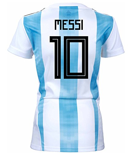 adidas Messi #10 Argentina Home Women's Soccer Jersey World Cup Russia 2018 (M) ()