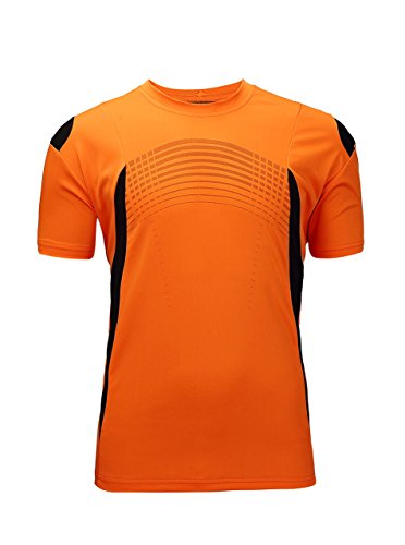 - ZITY Men's Sport Short-Sleeve Tee Shirts Orange Medium