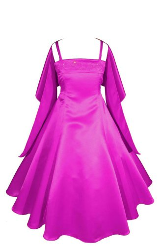 AMJ Dresses Inc Big Girls Fuchsia Flower Girl Formal Dress Size 10