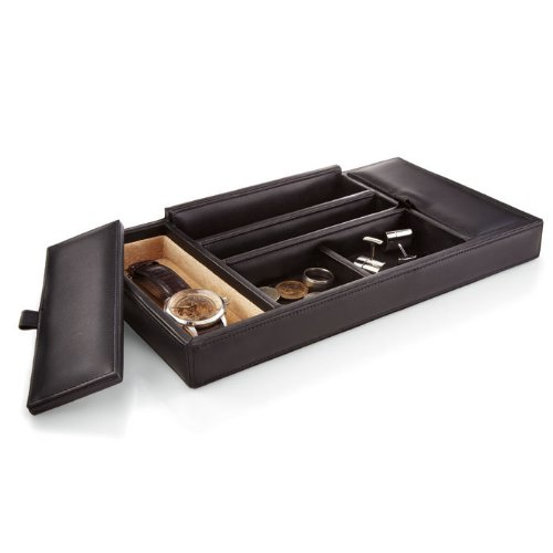 Leather Dresser Valet Tray, Tan