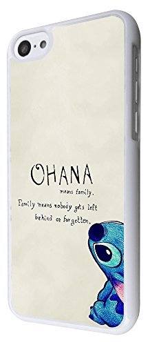 103 - Ohana Family Meaning Fun Cool Design iphone 5C Hülle Fashion Trend Case Back Cover Metall und Kunststoff - Weiß