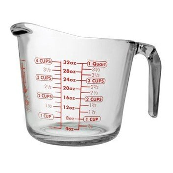 Anchor Hocking 32 Oz Glass Measuring Cup (55178Ol9) 3/Case, 946 ml