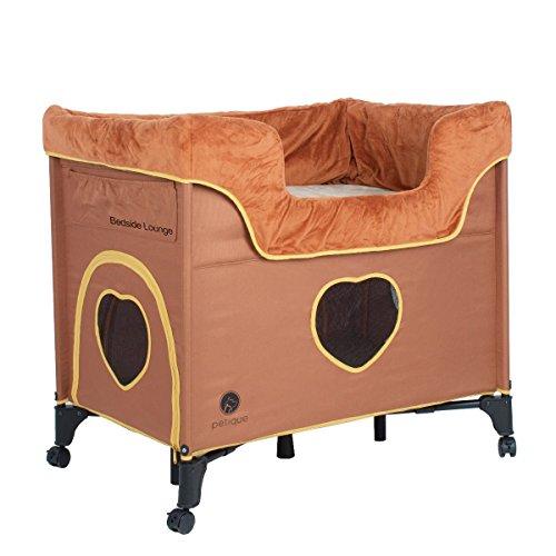 Petique BD01300104 Bedside Lounge-Lion's Den Pet Bed, Tan, One Size