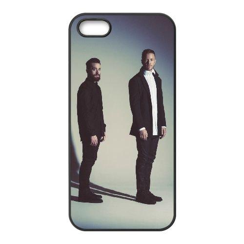 Imagine Dragons 003 coque iPhone 5 5S cellulaire cas coque de téléphone cas téléphone cellulaire noir couvercle EOKXLLNCD24531