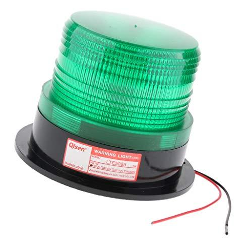 B Blesiya Flexible LED Warning Emergency Flash Strobe Rotating Beacon Light Motor - Green ()