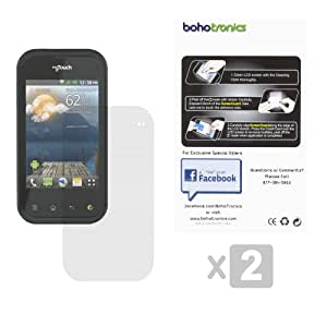 Boho Tronics ® 2 Pack Combo Set Two Premium Screen Protectors - Compatible With LG MyTouch Q C800 - Ultra Clear