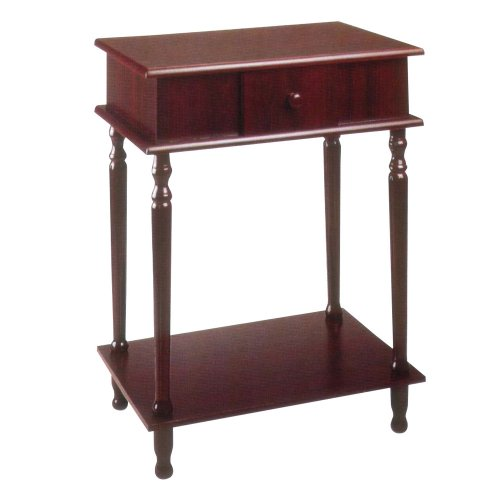 Frenchi Home Furnishing Rectangle Side Table, Cherry - End Cherry Ore Table International