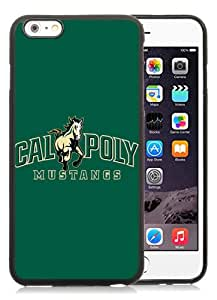 iPhone 6S Plus TPU Case ,NCAA Big Sky Conference Football Cal Poly Mustangs 2 black iPhone 6S Plus Cover Fashionable And Unique Custom Designed Phone Case