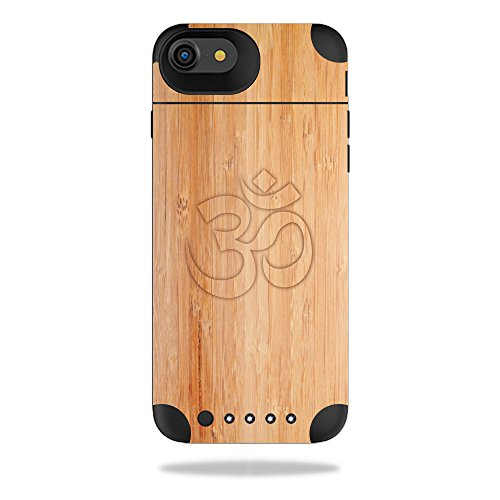MightySkins Protective Vinyl Skin Decal Compatible with Mophie Juice Pack Air iPhone 7 Case wrap Cover Sticker Skins Bamboo Ohm