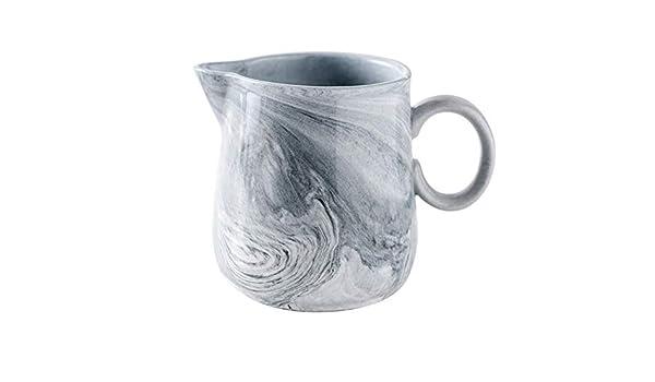 Jarra de cerámica para café y leche con asa, 200 ml, para servir ...
