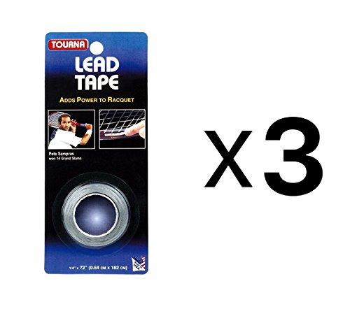 (Tourna Lead Tape Tennis Racquet Racket Tape Golf Club 1/4