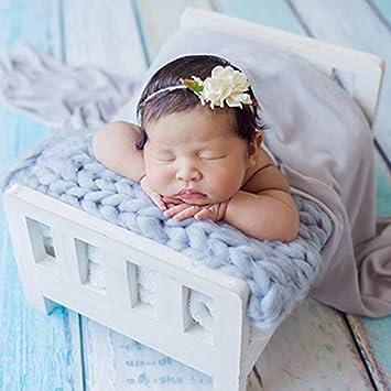 fotograf/ía port/átil Desmontable y Duradera para reci/én Nacidos Accesorios de Madera para fotograf/ía de Cuna de beb/é reci/én Nacido Delisouls