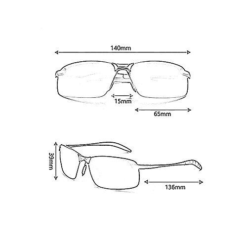 Gafas 2 Vidrios Sol Conducción Color Gafas Playa sol Gafas De De De Deporte YQQ Moda 4 Anti Hombre Gafas de Polarizados Gafas Reflejante wZq1A