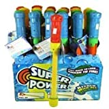 "6 Pack - 14"" Toy Water Pump Gun Blaster Soaker Asst'd Colors"