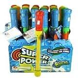 """6 Pack - 14"""" Toy Water Pump Gun Blaster Soaker Asst'd Colors"""