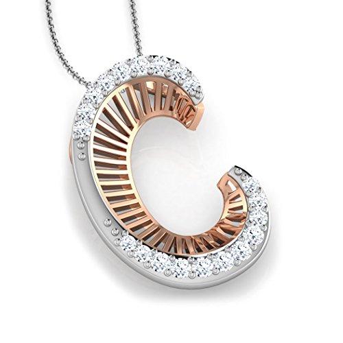 Or Rose 14K 0,14CT TW Round-cut-diamond (IJ | SI) Pendentif