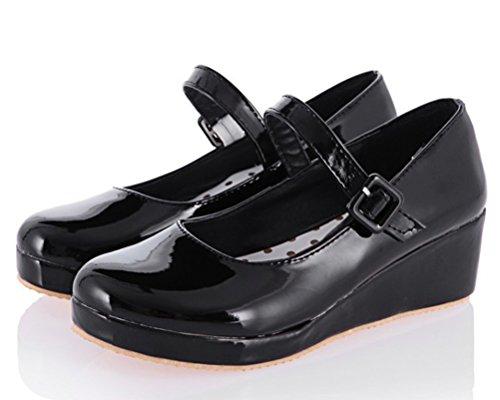 Noir Femme Noir Sandales 5 HiTime 36 Plateforme xwPt1WBqS