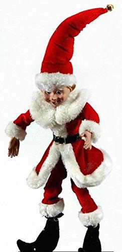 Babbo Natale 40 Cm.Selezione Varzi Addobbo Elfo Babbo Natale Decorazione Casa