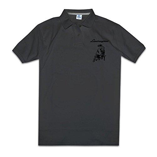Price comparison product image PONTAON Men's Lamborghini Logo Polo Shirt M Black