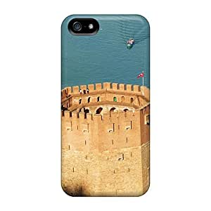 High Quality Shock Absorbing Case For Iphone 5/5s-red Castle