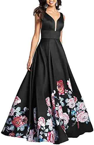 1f5078886af51 PromC Women Floral 2 Piece Prom Dresses 2019 Long Formal Evening Gown P030