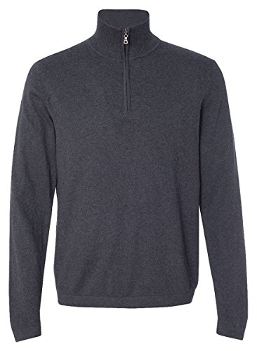 Cashmere Vintage Sweater (Weatherproof Vintage Cotton Cashmere Quarter-Zip Sweater, Charcoal Heather, XL)