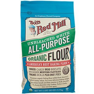 All Purpose Flower - Bob's Red Mill Organic White Flour - Unbleached - 5 lb