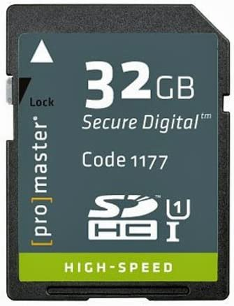 32GB Promaster High Speed SDHC 366X Card