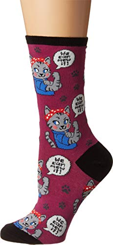 Socksmith We Can Mew It Berry 9-11 (Women's Shoe Sizes 5-10.5)