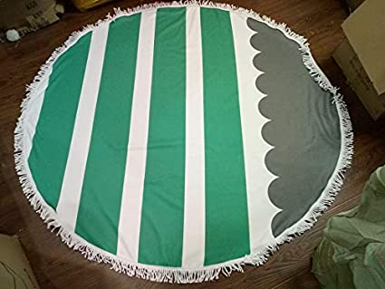 Amazon.com: WLEZY Beach Towel Sunbathe Printed Stripe Sea ...