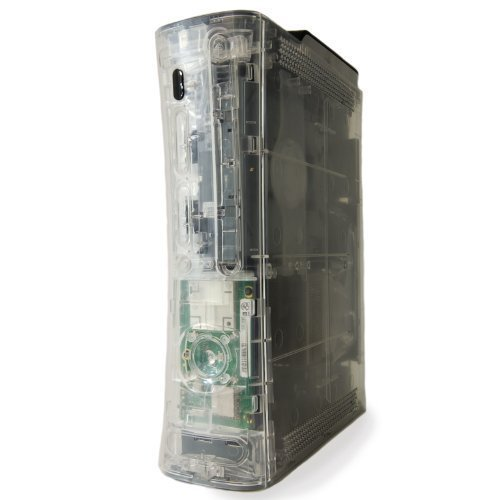 Case Ghost Clear - XBOX 360 GHOST CASE - CRYSTAL CLEAR/HDMI/BLUE LIGHTS
