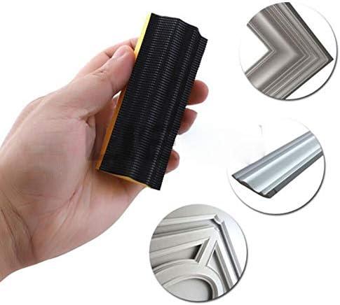 16PC Sanding Pad Shaped Hand Sanding Block Base Sanding Disc Grinding Sponge for Hook & Loop Sandpaper Abrasive Tools