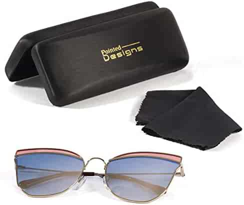 02b5e4cd9c775 Sunglasses - Premium Cat-Eye Polarized Sunglasses with Case and Cloth - by  Pointed Designs