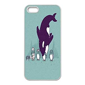 Case For Iphone 6 Plus 5.5 Inch Cover , Penguin Whale Funny Case For Iphone 6 Plus 5.5 Inch Cover , White