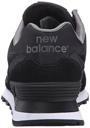 New Balance Womens 574 Classics Traditionnels Suede Trainers negro