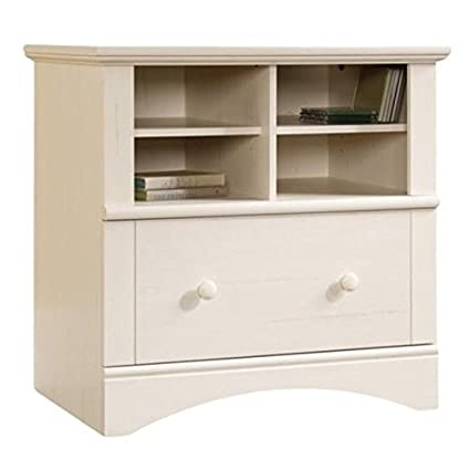 Bowery Hill 1 Drawer Lateral Wood File Cabinet in Antique White - Amazon.com : Bowery Hill 1 Drawer Lateral Wood File Cabinet In