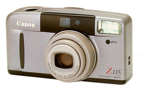 Date Champagne Dial - Canon Sure Shot Z115 Panorama Caption Zoom Date 35mm Camera