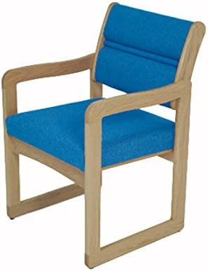 Wooden Mallet DW1-1 Valley Guest Chair, Light Oak Leaf Taupe