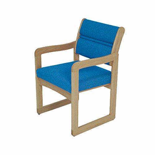 Wooden Mallet DW1-1 Valley Guest Chair, Light Oak/Wine