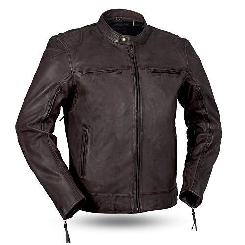 (First Mfg Co Diamond Men's Sport jacket (Brown, Medium))